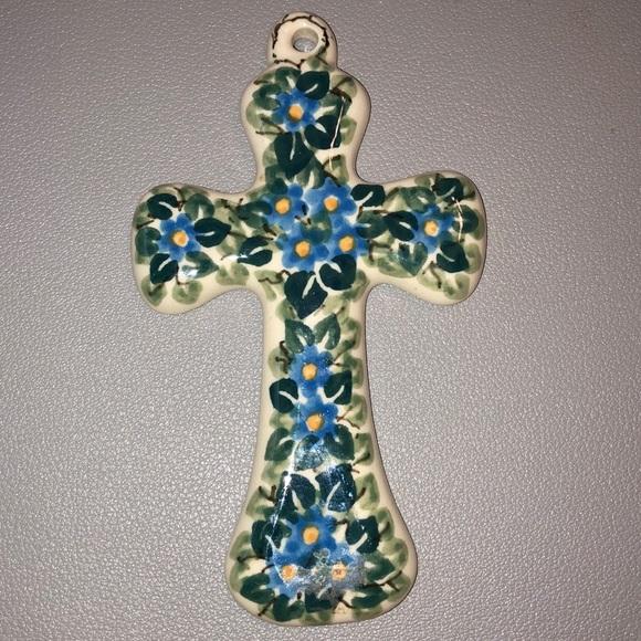 Cross Crucifix - ceramic made in Poland